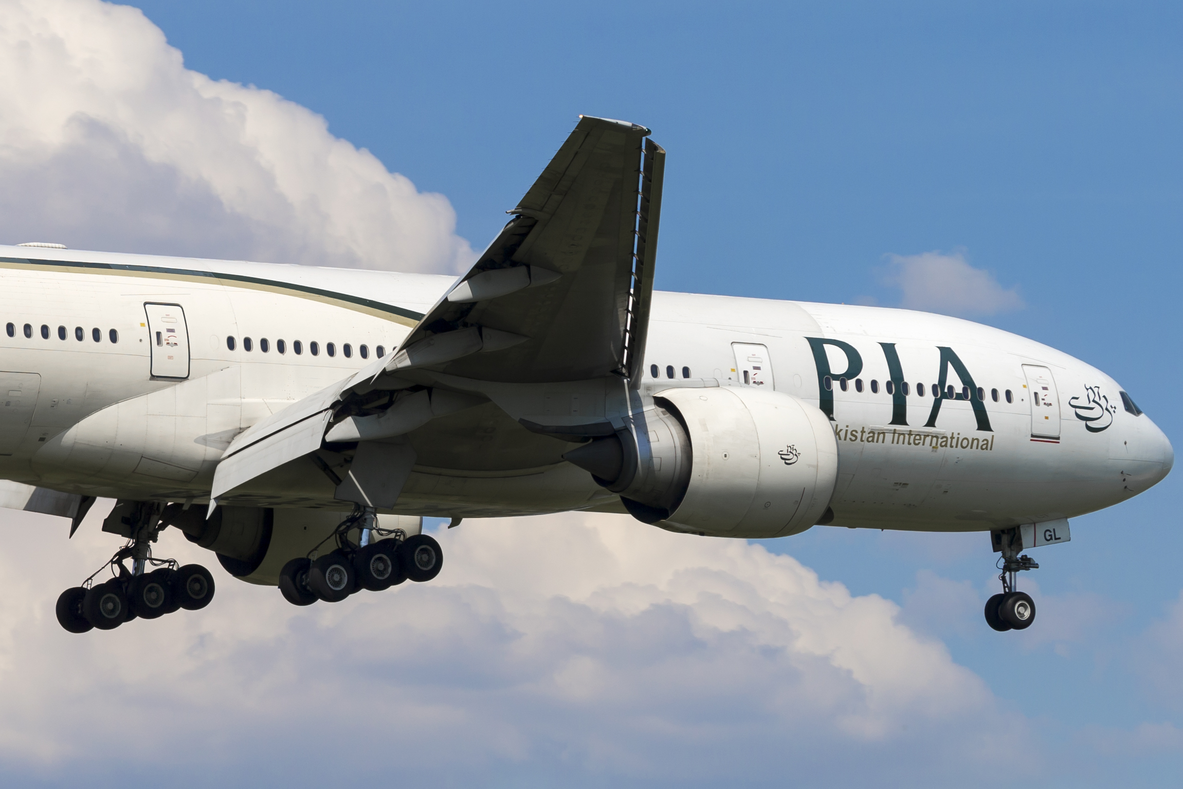 En Boeing 777-200ER fra Pakistan International Airlines (PIA). Foto: © Thorbjørn Brunander Sund, Danish Aviation Photo