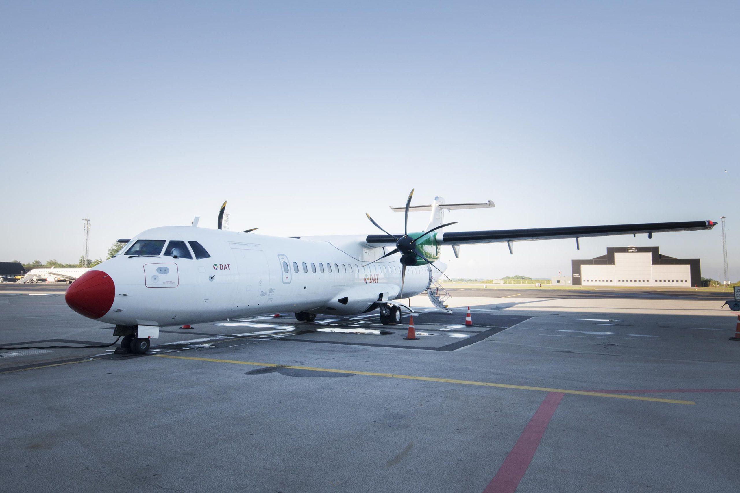 DAT ATR 72-600 i Aalborg Lufthavn. (Foto: Joakim J. Hvistendahl)