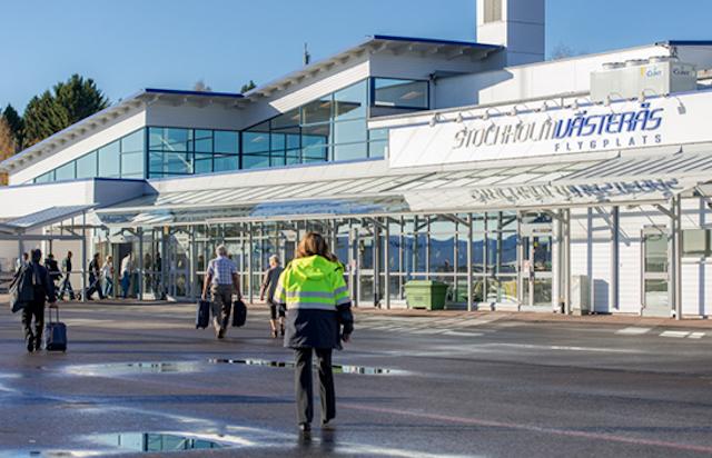 Lufthavnen i Västerås kan benyttes som alternativ til Arlanda og Bromma. (PR-foto)