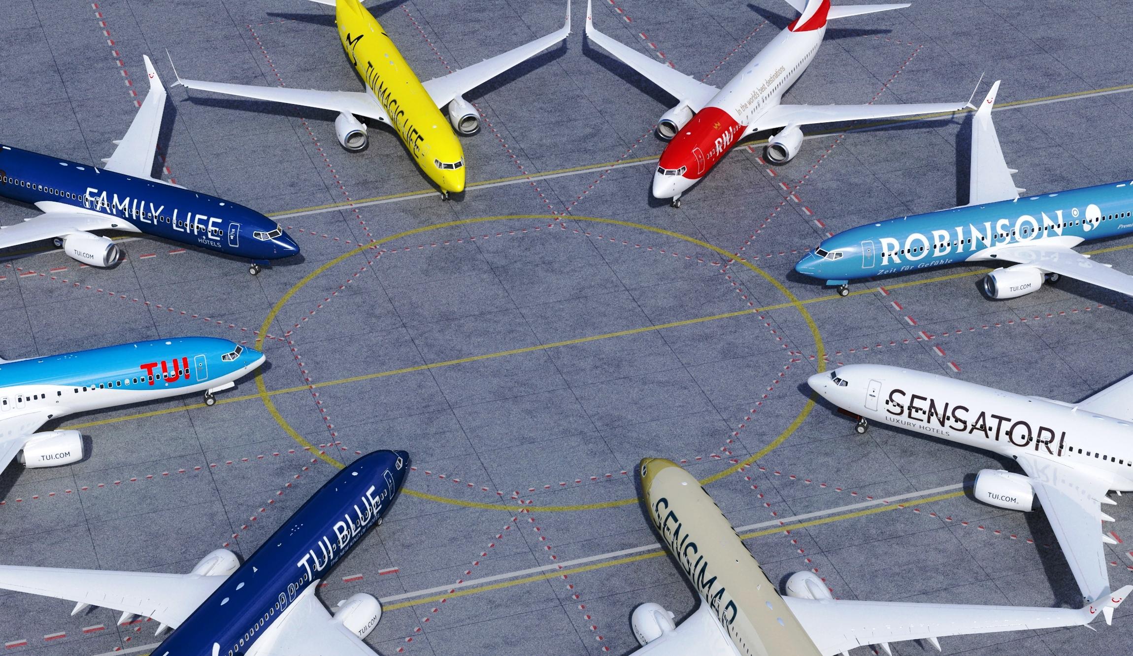 Fly fra TUIfly i forskellig bemaling. (Foto: TUI Group | PR)
