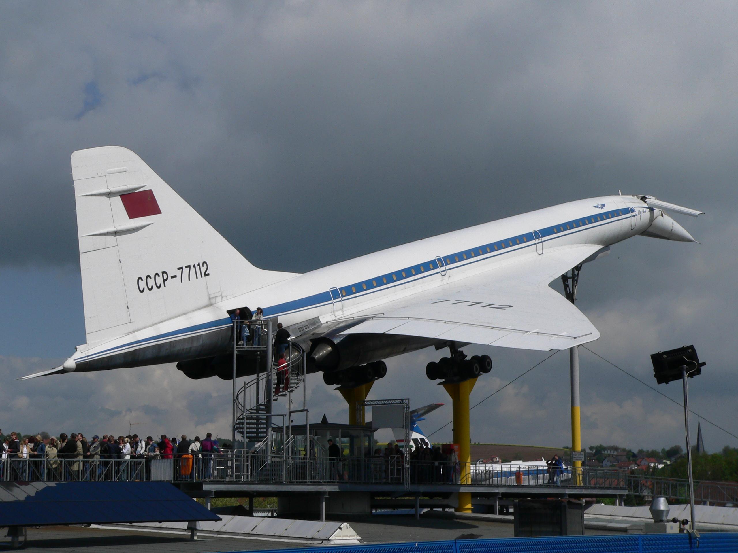 En af Tupolevs tidligere supersoniske fly, Tu-144, på et tysk museum. Foto: Hans-Peter Scholz, CC 2.0