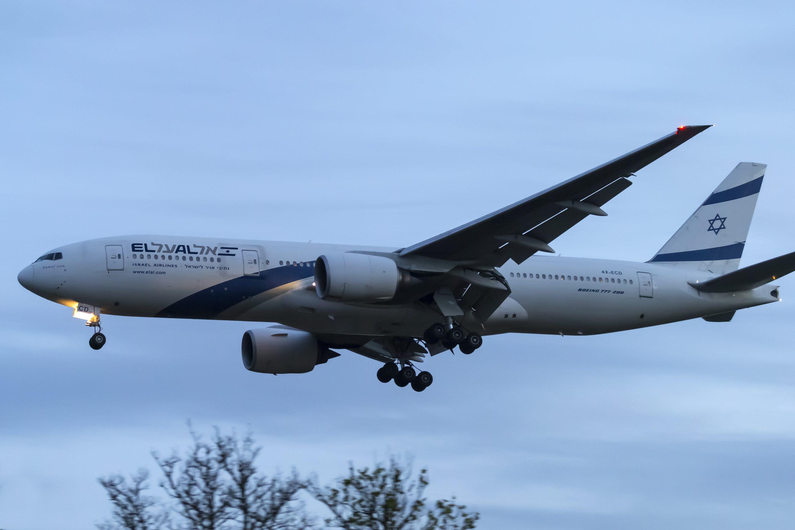 En Boeing 777-200ER fra det israelske flyselskab El Al. Foto: © Thorbjørn Brunander Sund, Danish Aviation Photo
