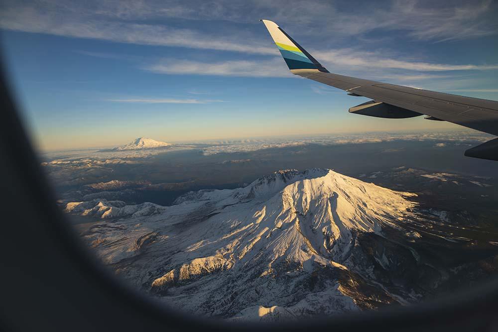 Udsigten fra et Alaska Airlines-fly (foto: Alaska Airlines)