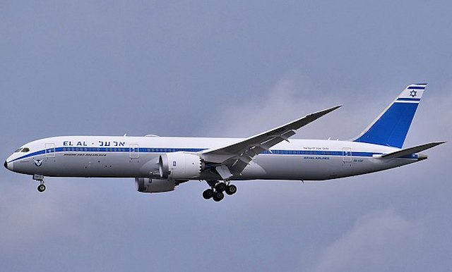 En Boeing 787-9 fra El Al i retrobemaling. Foto: Wikimedie Commons