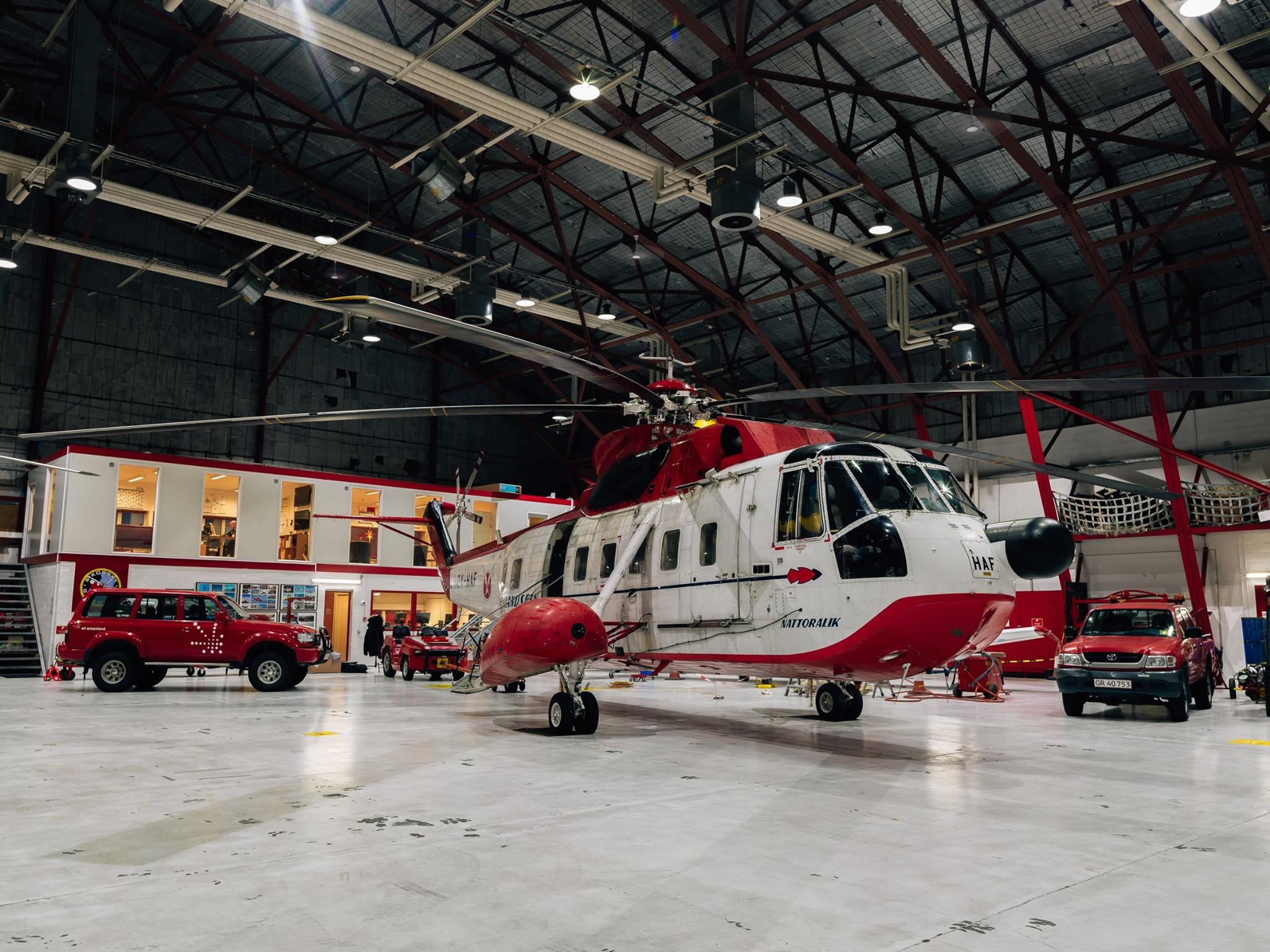 Air Greenland Sikorsky S-61 med navnet Nattoralik. (Foto: Air Greenland)