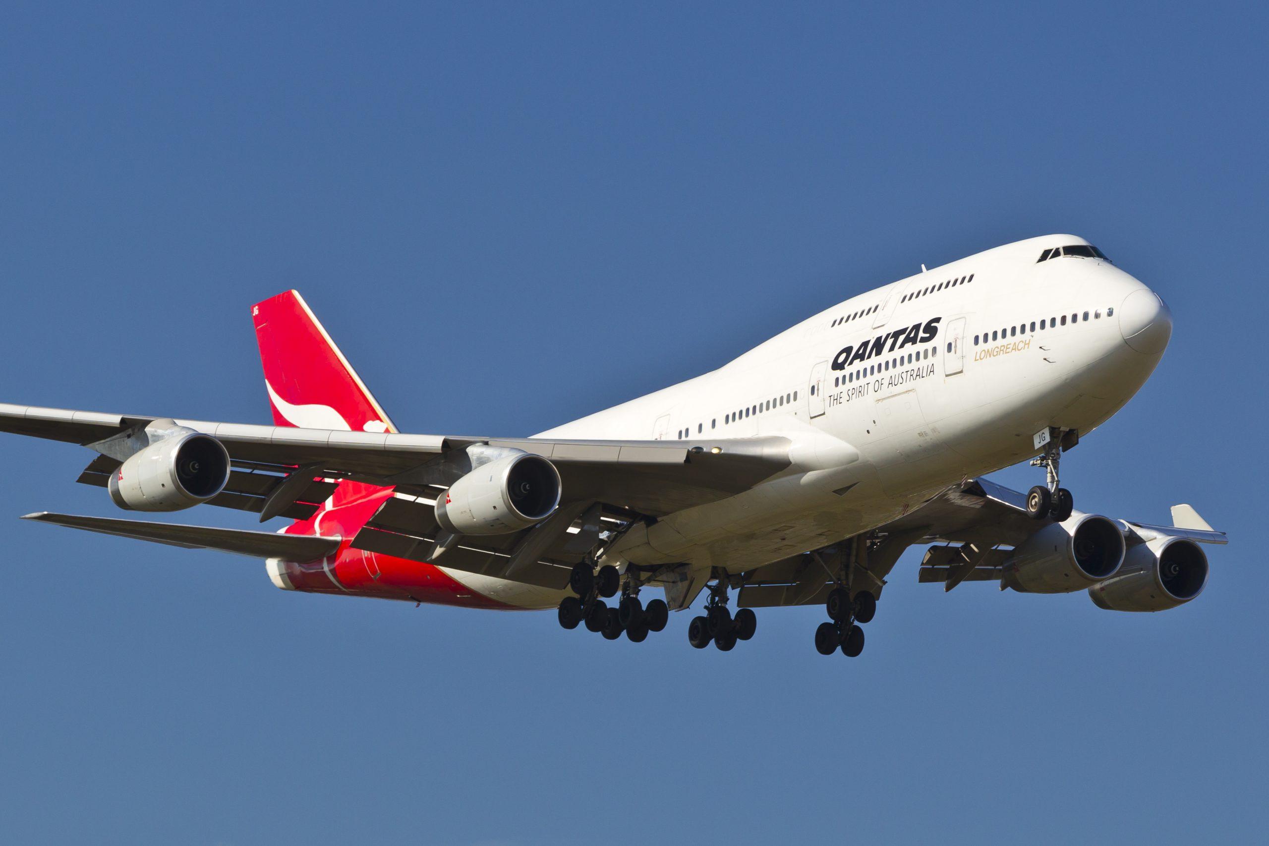 En Boeing 747-400 fra det australske flyselskab Qantas. Foto: © Thorbjørn Brunander Sund, Danish Aviation Photo