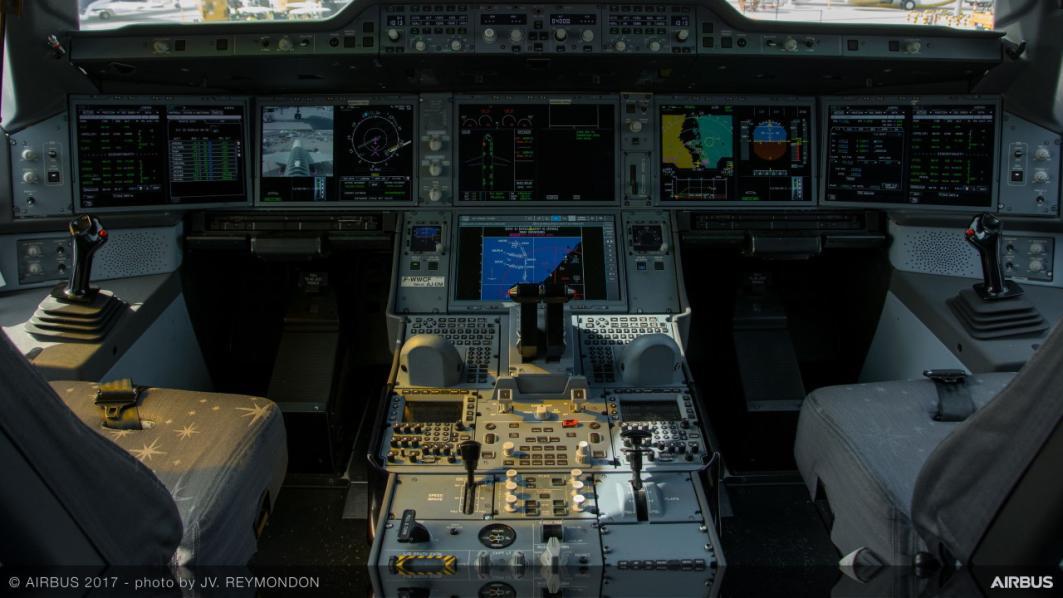 Cockpit i Airbus A350-900XWB (Foto: Airbus | JV Reymondon)