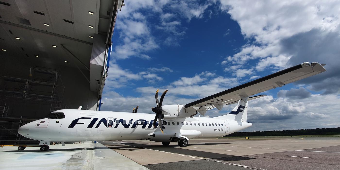 12 ATR-72-fly fra Finnair-datterselskabet Norra har fået ny bemaling og interiør. Foto: Magnetic MRO