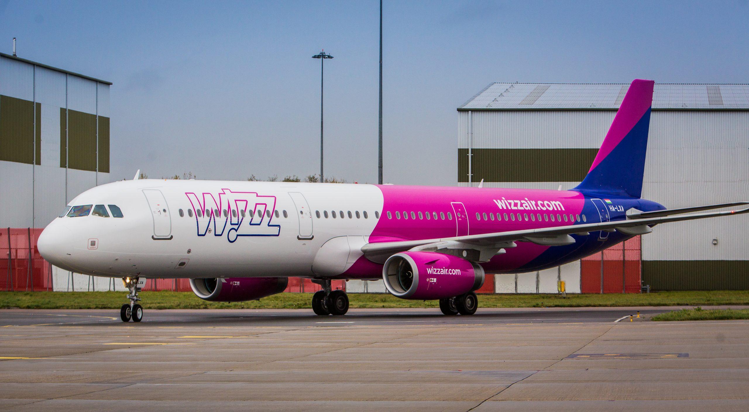 En Airbus A321-200 fra det ungarske lavprisflyselskab Wizz Air. Foto: Wizz Air