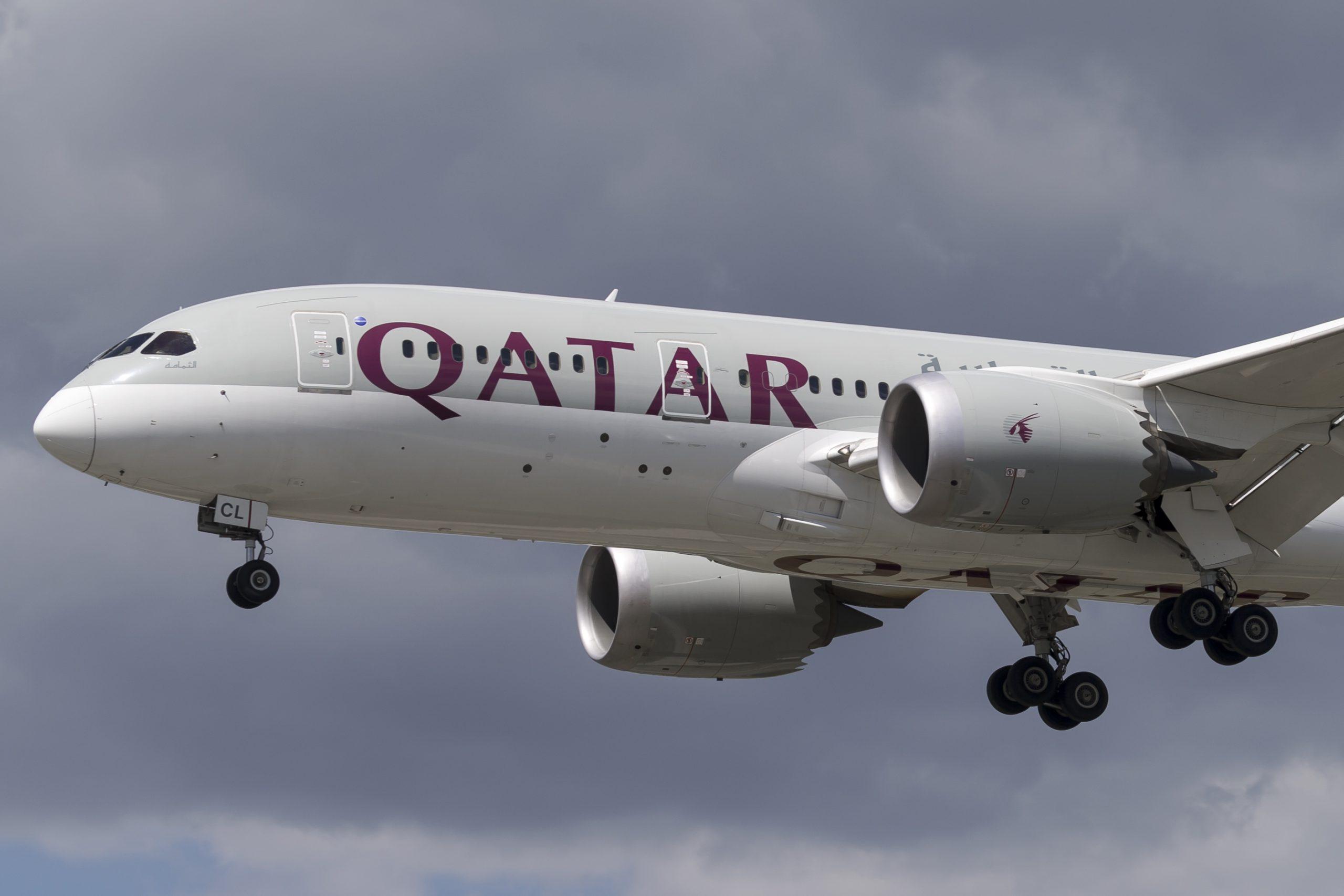 En Boeing 787-8 Dreamliner fra Qatar Airways. Foto: © Thorbjørn Brunander Sund, Danish Aviation Photo