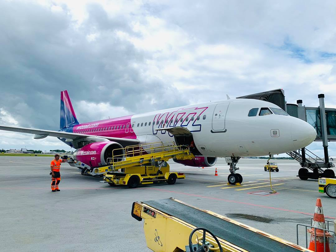 Airbus A320 fra Wizz Air i Billund Lufthavn. (Foto: Billund Lufthavn | PR)