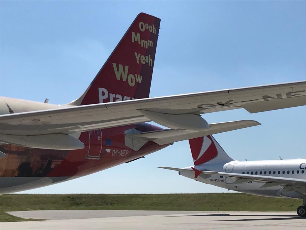 Fly fra CSA Czech Airlines i lufthavnen i Prag. (Foto: CSA)