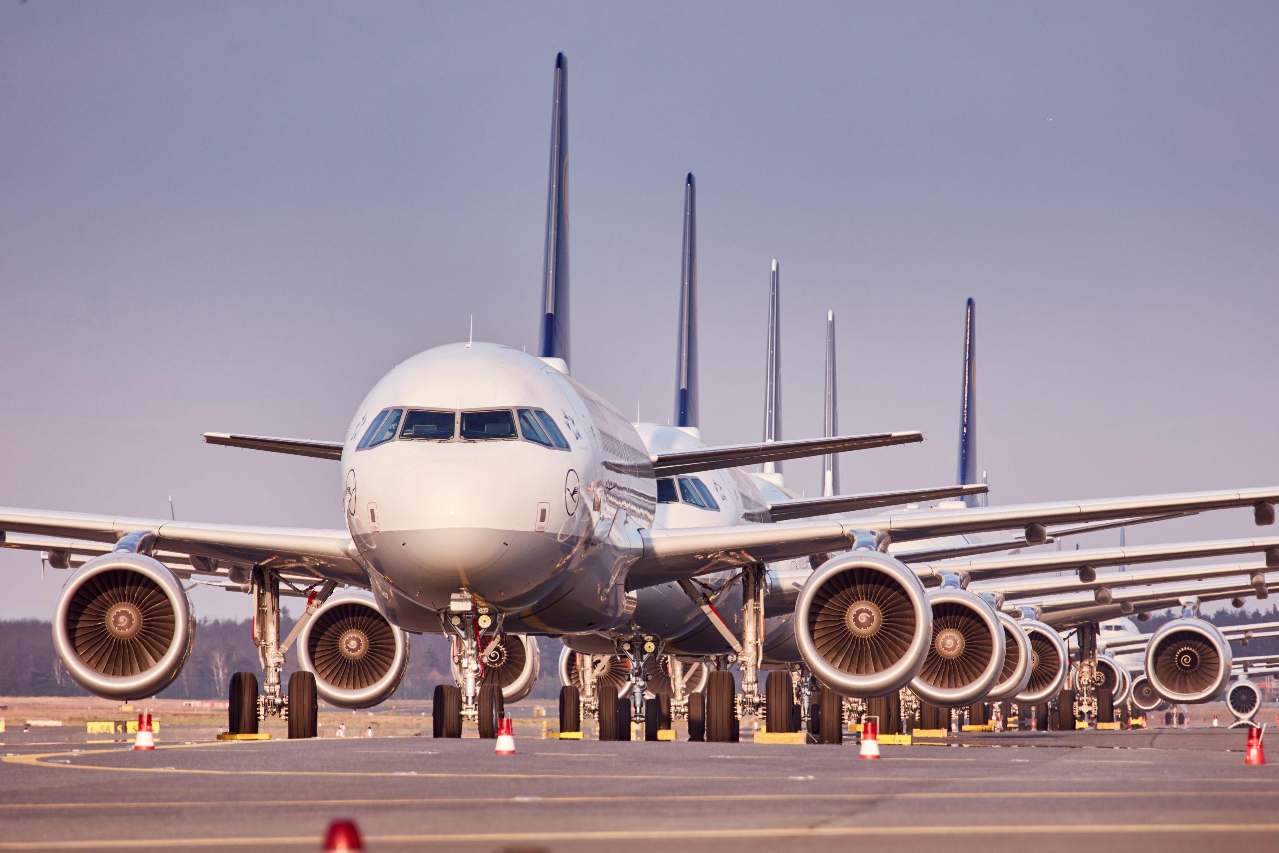Parkerede fly fra Lufthansa (Lufthansa | PR)