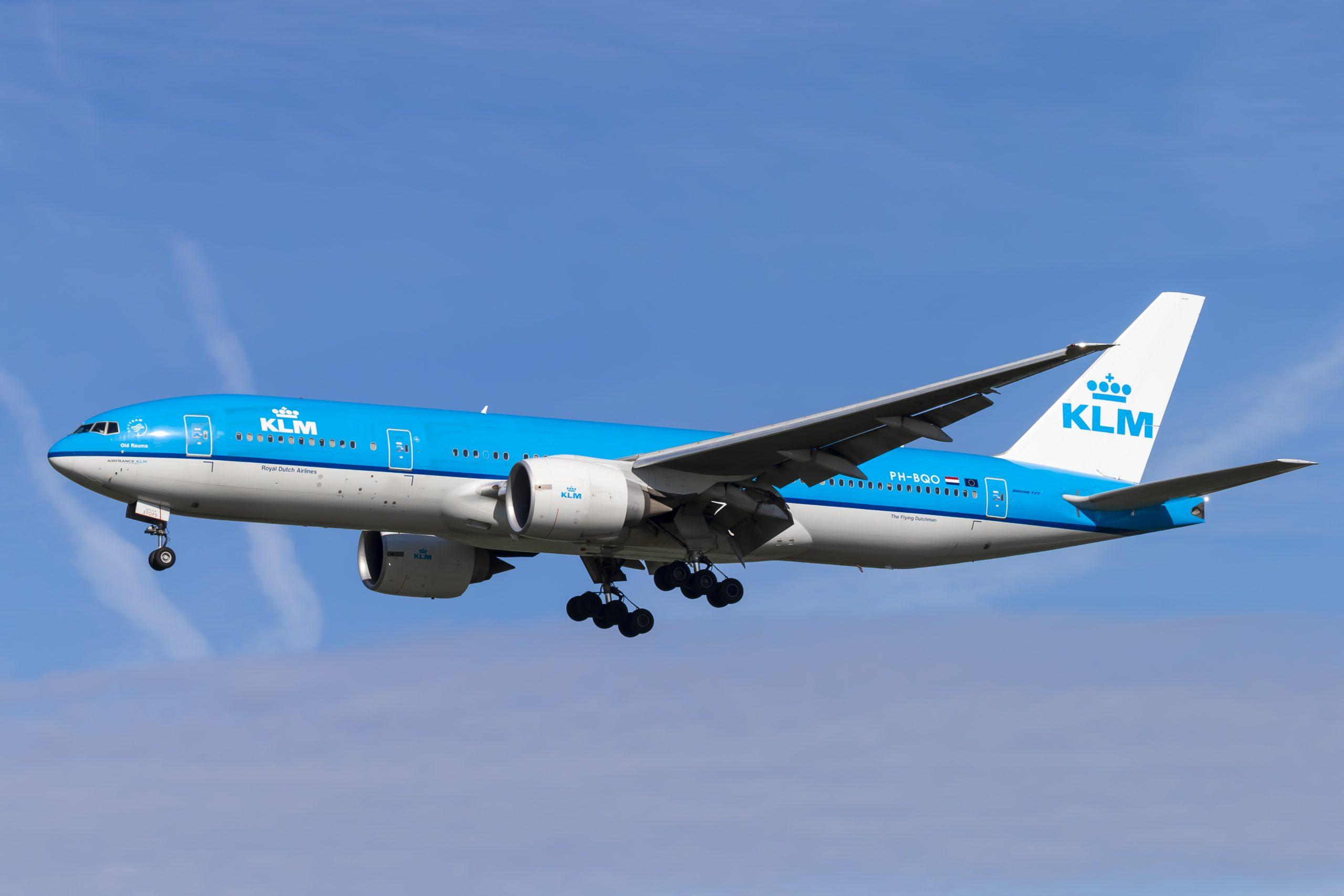 En Boeing 777-200ER fra KLM. Foto: © Thorbjørn Brunander Sund, Danish Aviation Photo
