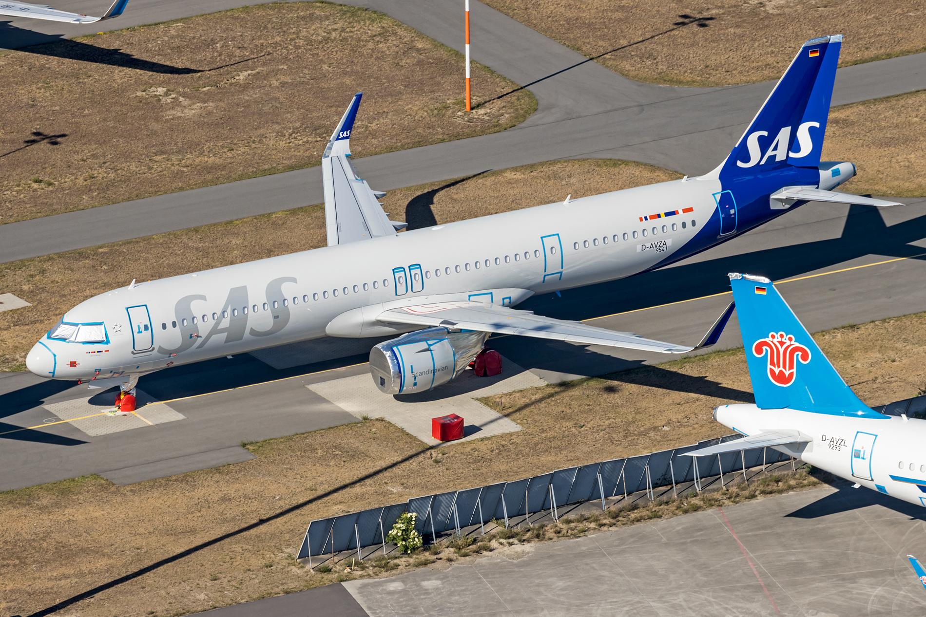 Første Airbus A321LR til SAS (SE-DMO) hos Airbus i Hamborg. (Foto: Dirk Grothe   Aviation Photography)