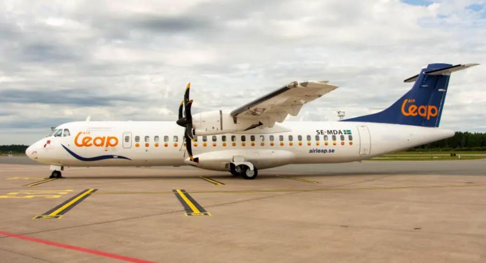 En ATR 72-500 fra det svenske flyselskab Air Leap. Foto: Air Leap