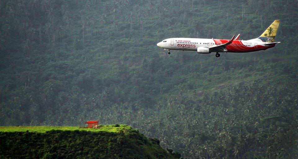 """Kozhikode Calicut International Airport er en af flere såkaldte """"tabletop""""-lufthavne. (Foto: Air India Express)"""