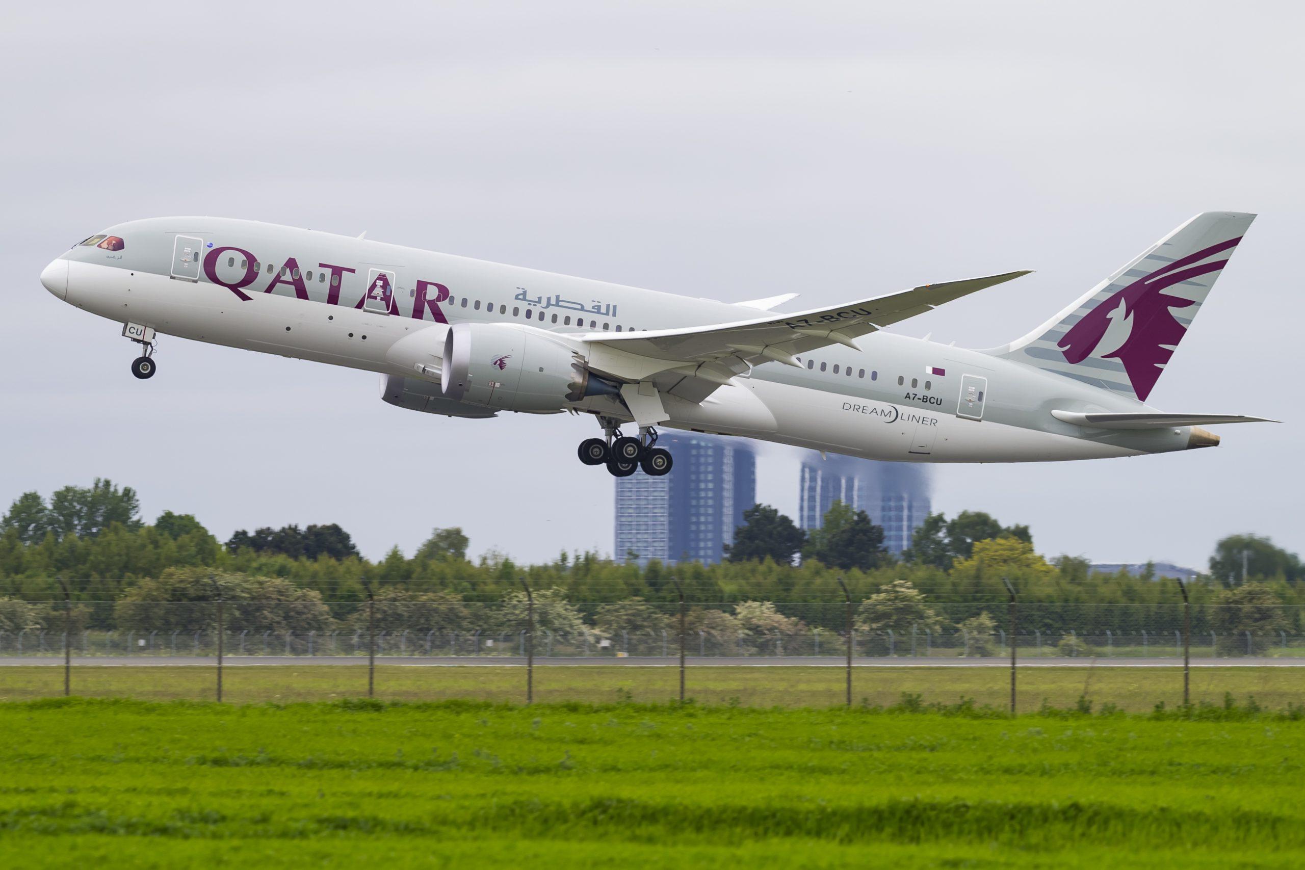 Boeing 787-8 Dreamliner fra Qatar Airways under start fra Københavns Lufthavn. (Foto: © Thorbjørn Brunander Sund, Danish Aviation Photo)