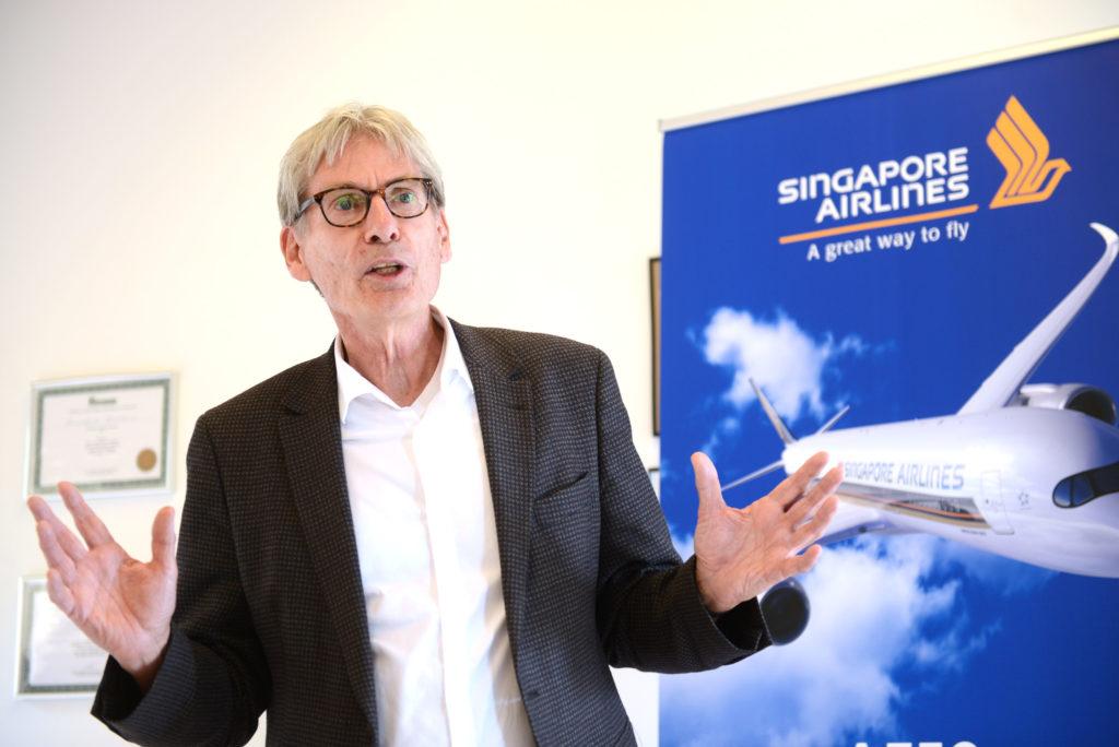 Allan Hoffery, salgs- og kommunikationschef hos Singapore Airlines i Norden. (Foto: Joakim J. Hvistendahl)