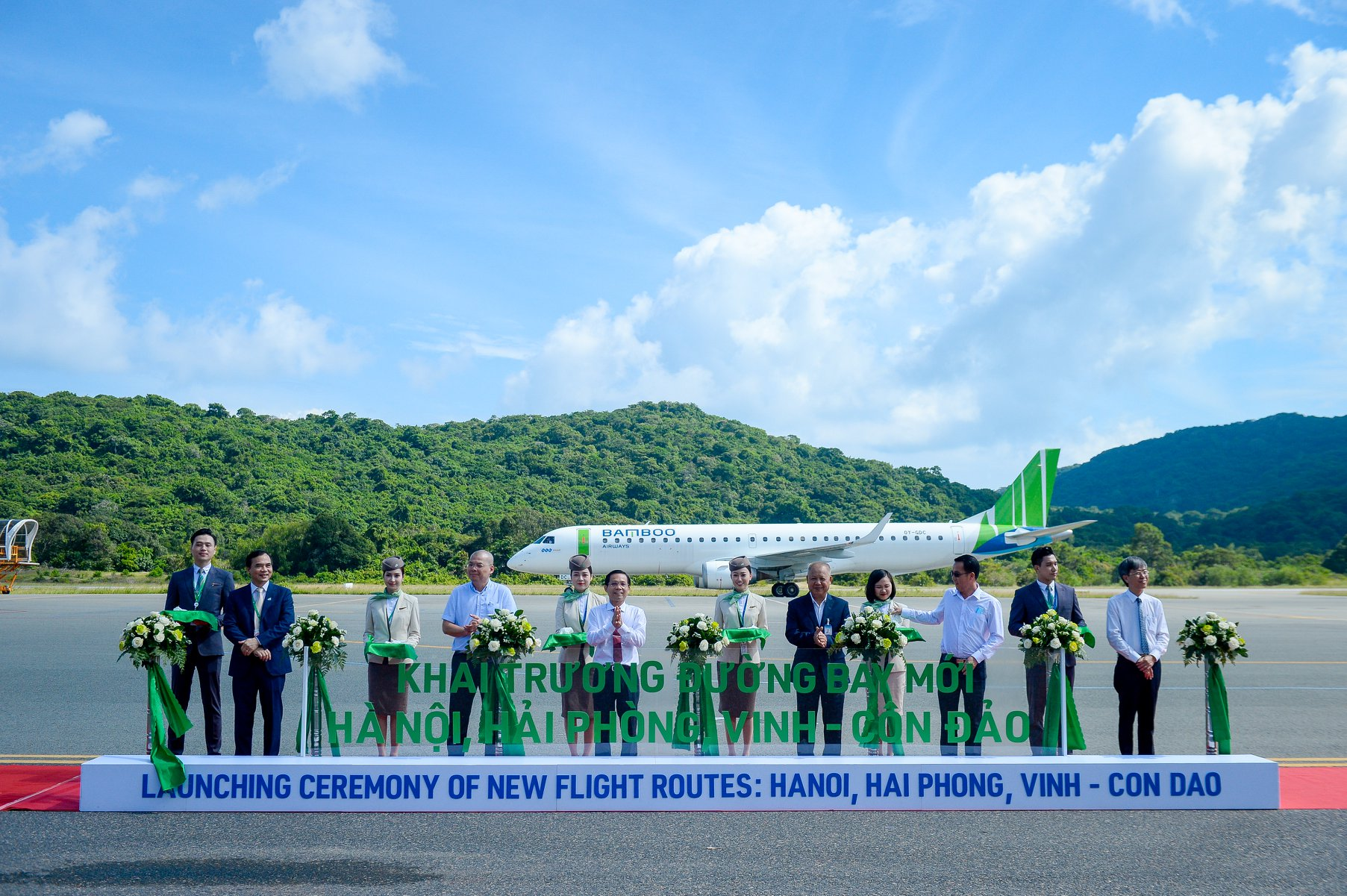 OY-GDC fra Great Dane Airlines i Con Dao Airport i Vietnam. (Foto: Bamboo Airways)