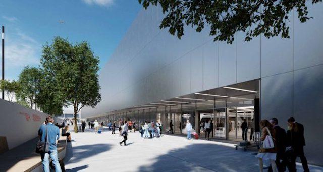 En illustration af den nye Terminal 2 i Berlin Brandenburg. (Kilde: FBB)