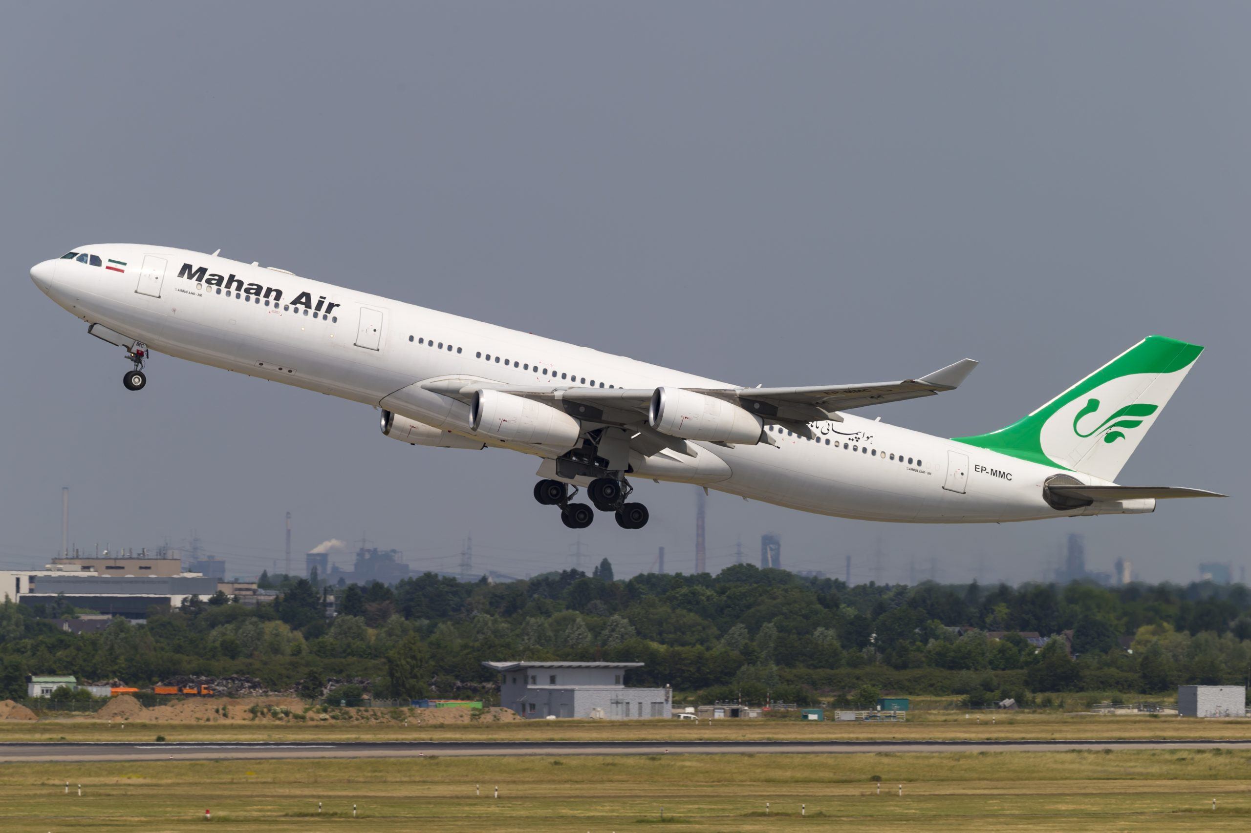 Airbus A340-300 fra Mahan Air. (Foto: © Thorbjørn Brunander Sund, Danish Aviation Photo)
