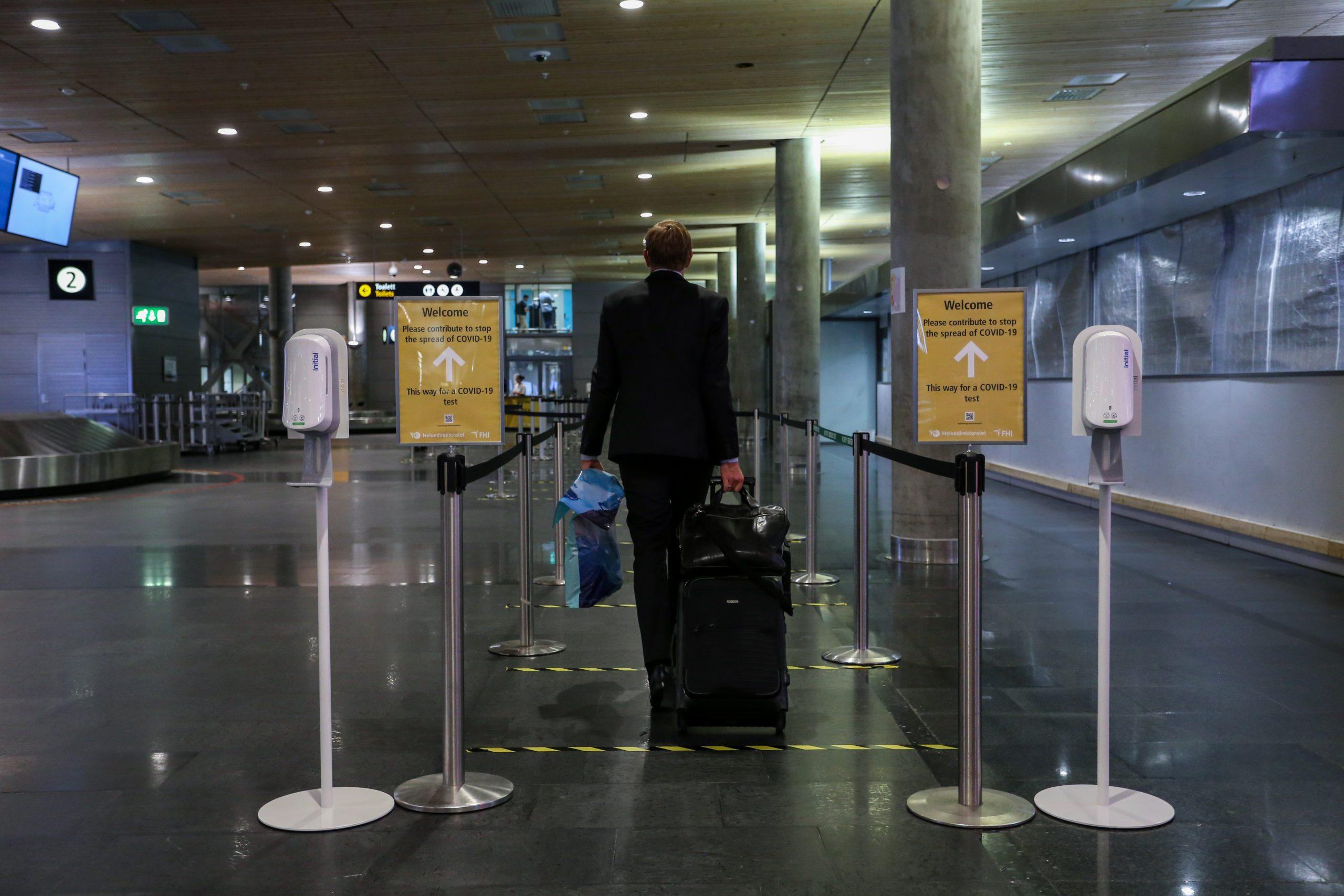 Indgangen til COVID-19-testcenter i Oslo Lufthavn. (Foto: Avinor | PR)