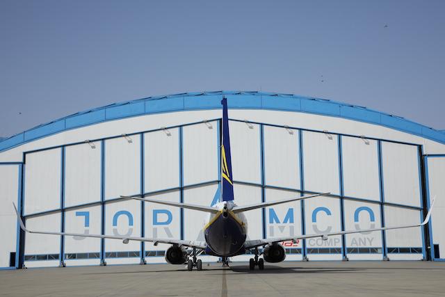 Ryanair-fly til check hos Joramco i Jordan. Foto: Joramco