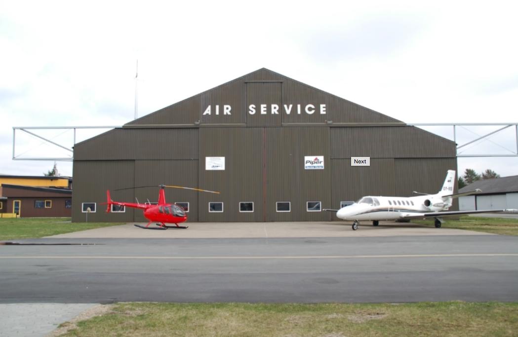 Air Service International A/S-hangar i Billund Lufthavn. Foto: Air Service International A/S