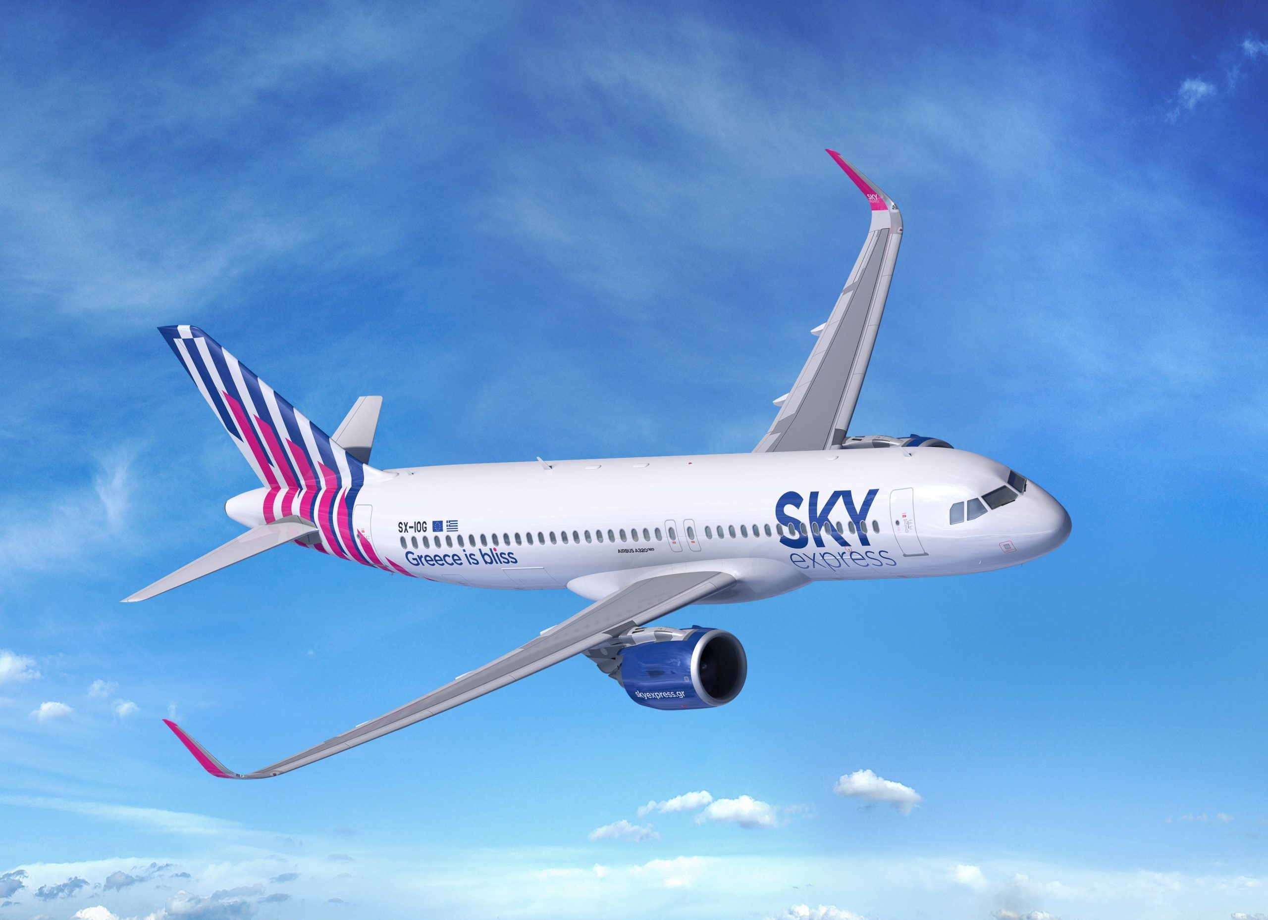 Airbus A320-200neo fra SKY express. (Airbus | FIXION by Dreamstime)