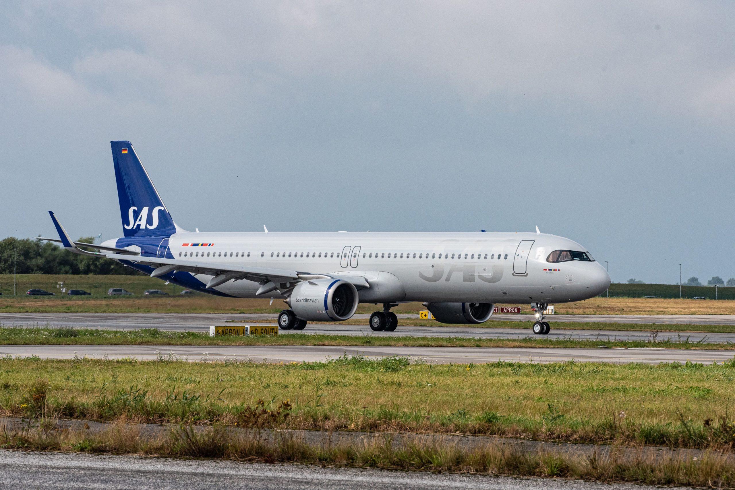 SAS' første Airbus A321LR med registreringen SE-DMO (Foto: Airbus | PR)