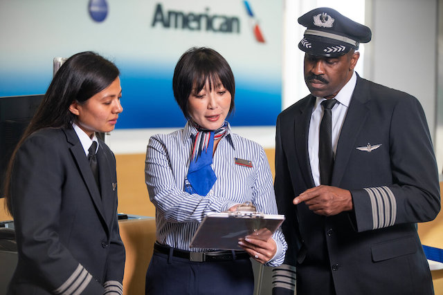 Personale fra American Airlines. Foto: American