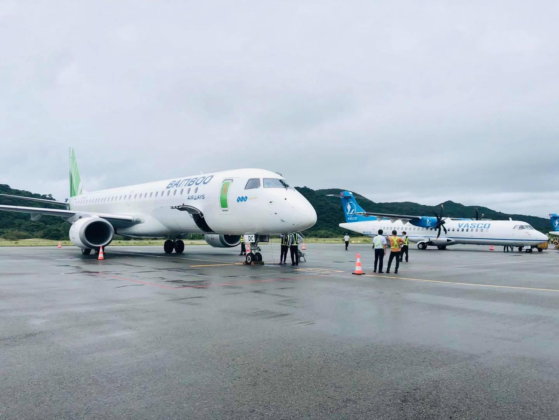 Embraer-fly fra Great Dane Airlines på Con Dao Island i Vietnam. (Foto: Embraer   PR)