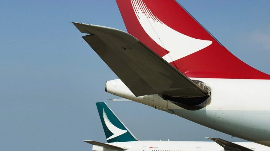 Cathay Dragon-fly har rød hale. Foto: Cathay Pacific Group