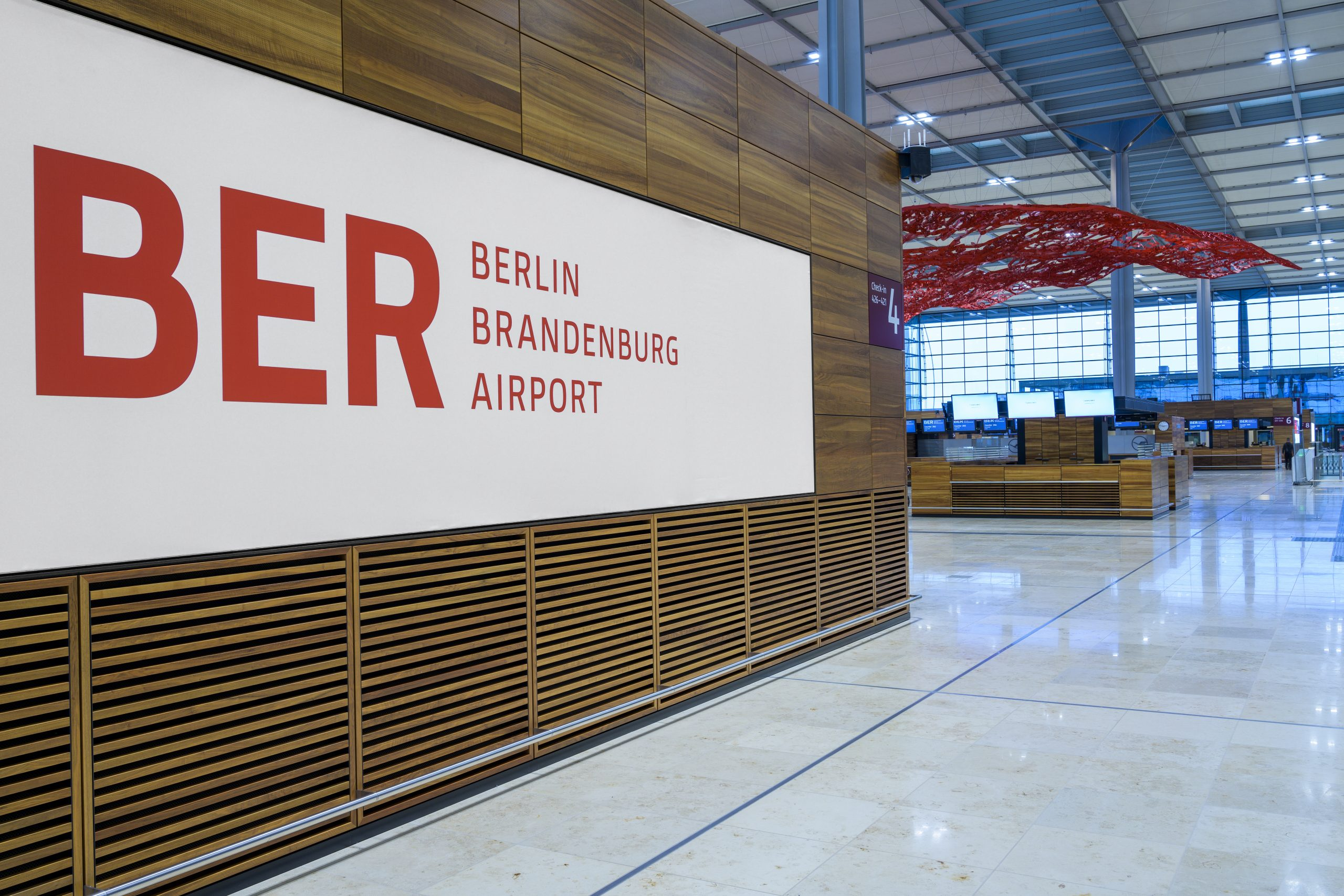 Den nye BER – Berlin Brandenburg lufthavn.