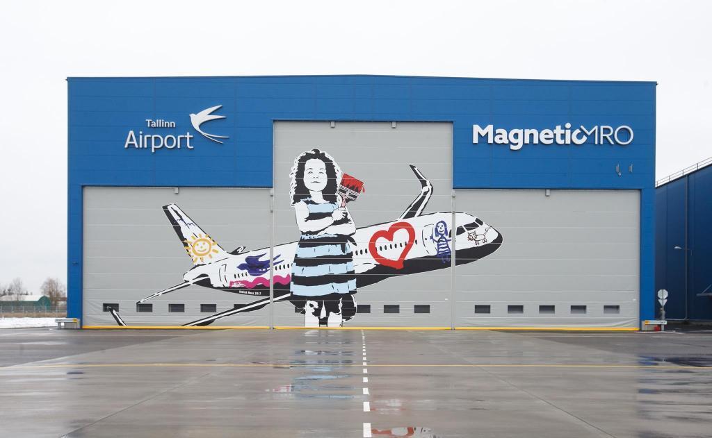 En hangar fra flyservicevirksomheden Magnetic MRO i Tallinn Airport. Foto: Magnetic MRO