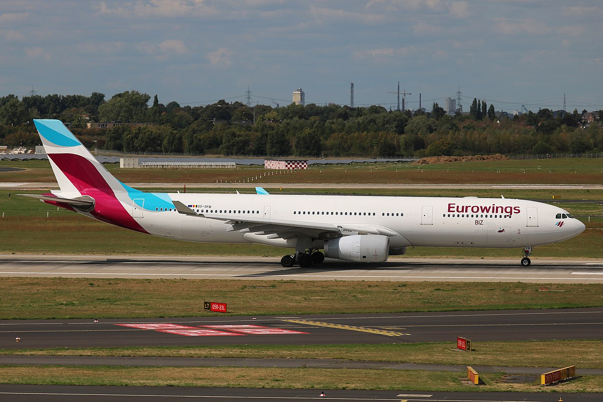 Airbus A330-300 fra Brussels Airlines i Eurowings-bemaling. (Foto: Marvin Mutz | CC 2.0)