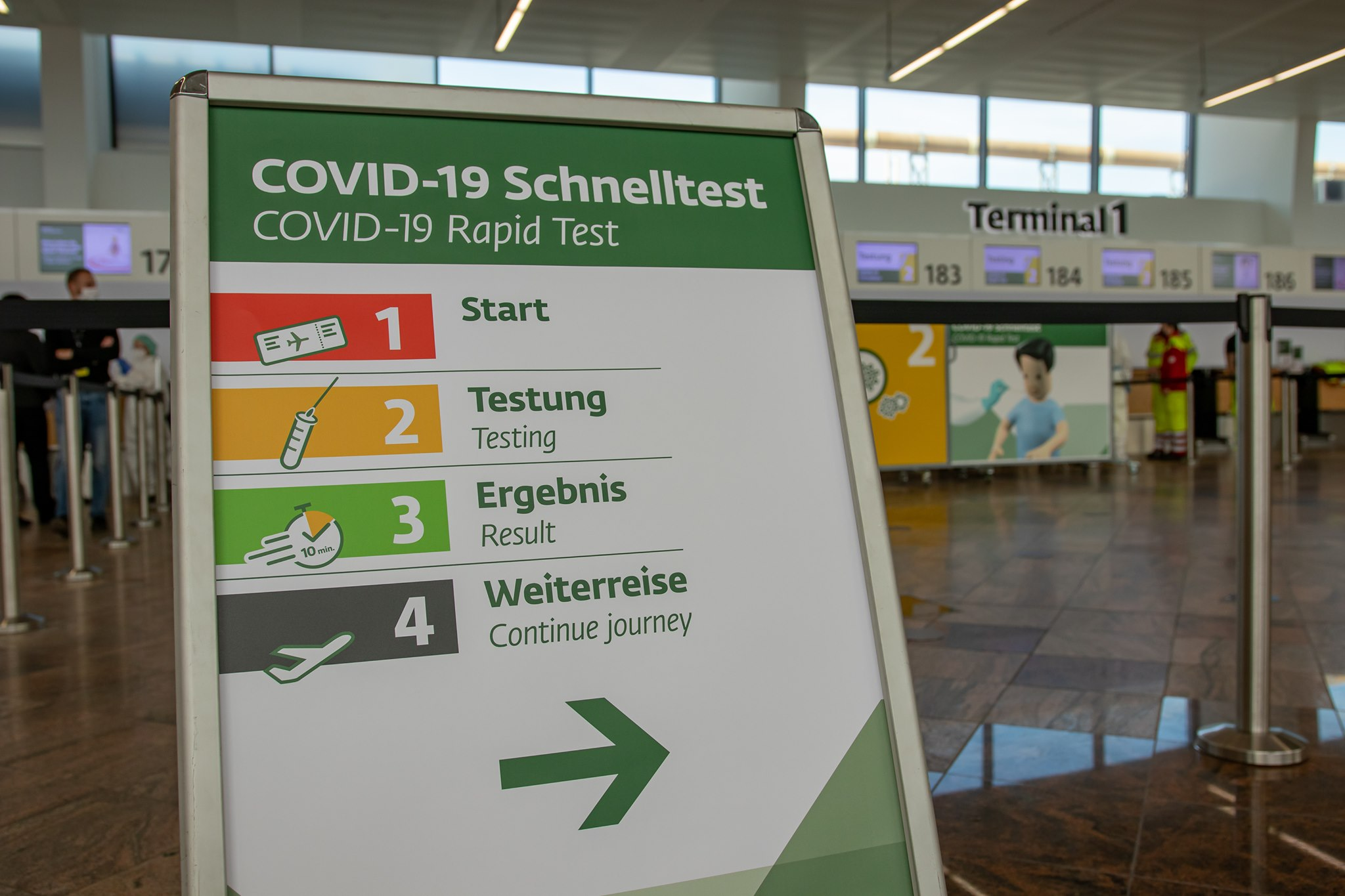 COVID-19-lyntest i Wien Lufthavn. (Foto: Vienna Airport | PR)