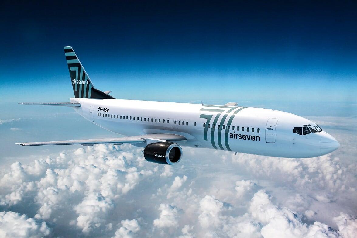 Boeing 737-400 fra Airseven. (Foto: Airseven | PR)