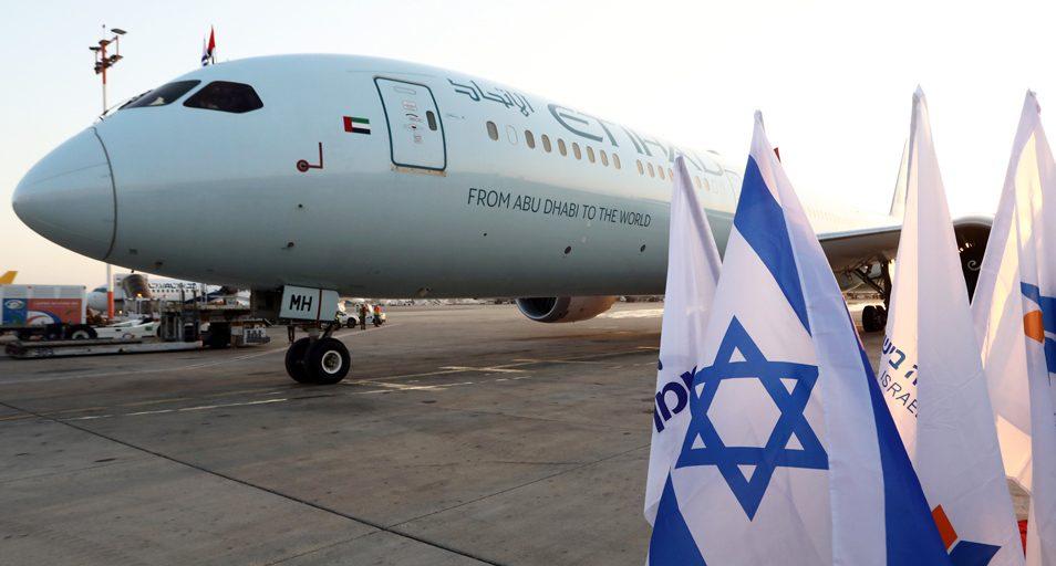 En Boeing 787 Dreamliner fra Etihad Airways i Ben Gurion-lufthavnen i Tel Aviv. Foto: Etihad Airways
