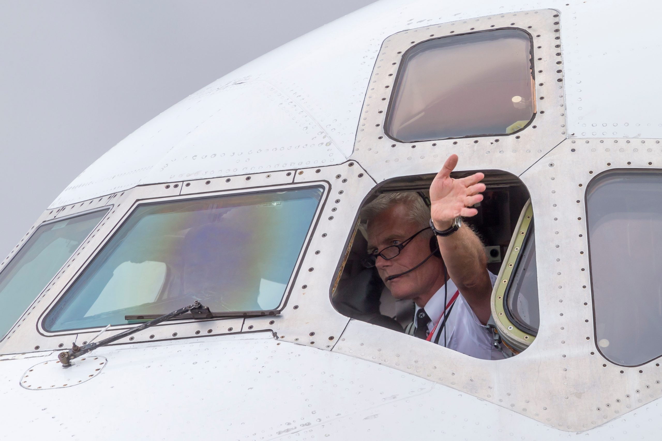 Flykaptajn, ejer og adm. direktør Jesper Rungholm fra DAT. (Foto: © Thorbjørn Brunander Sund, Danish Aviation Photo)
