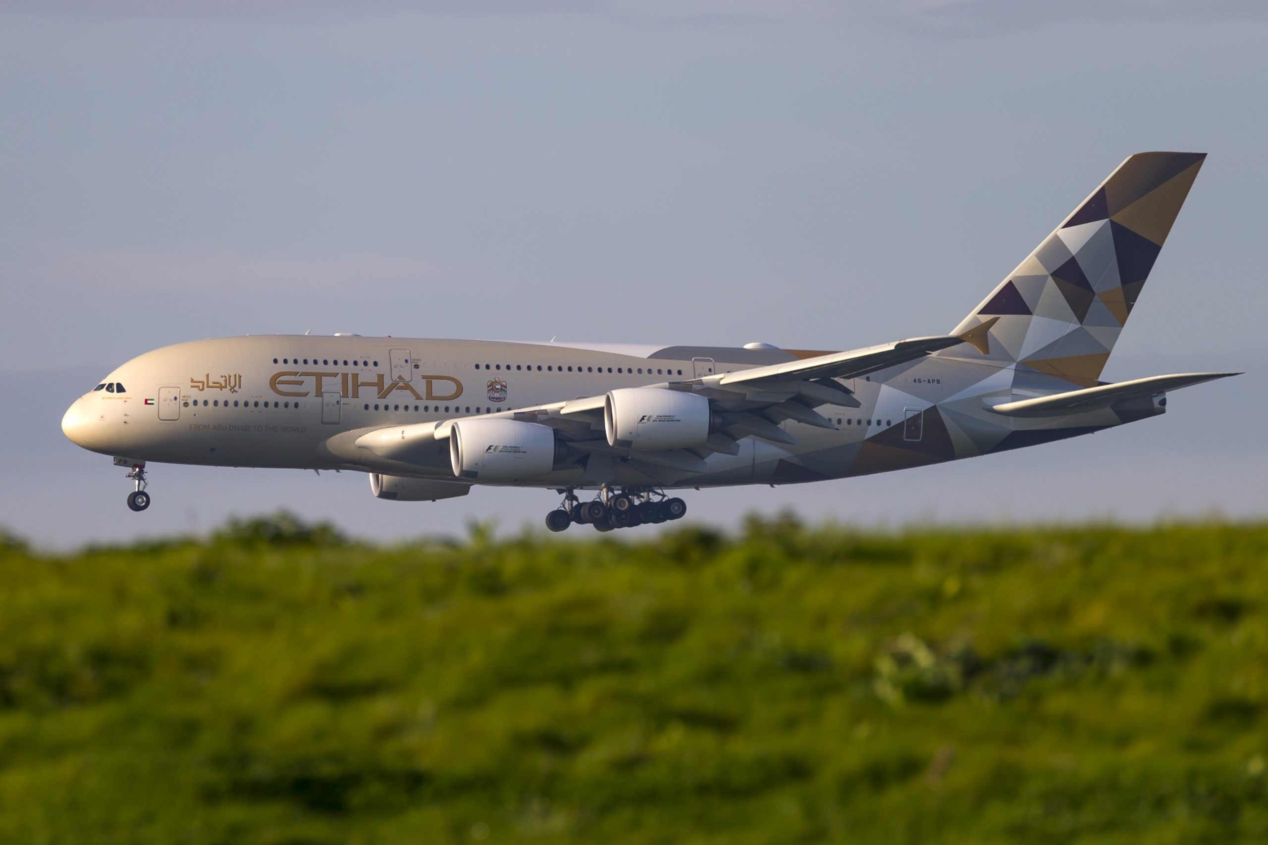 En Airbus A380-800 fra Etihad Airways. Foto: © Thorbjørn Brunander Sund, Danish Aviation Photo
