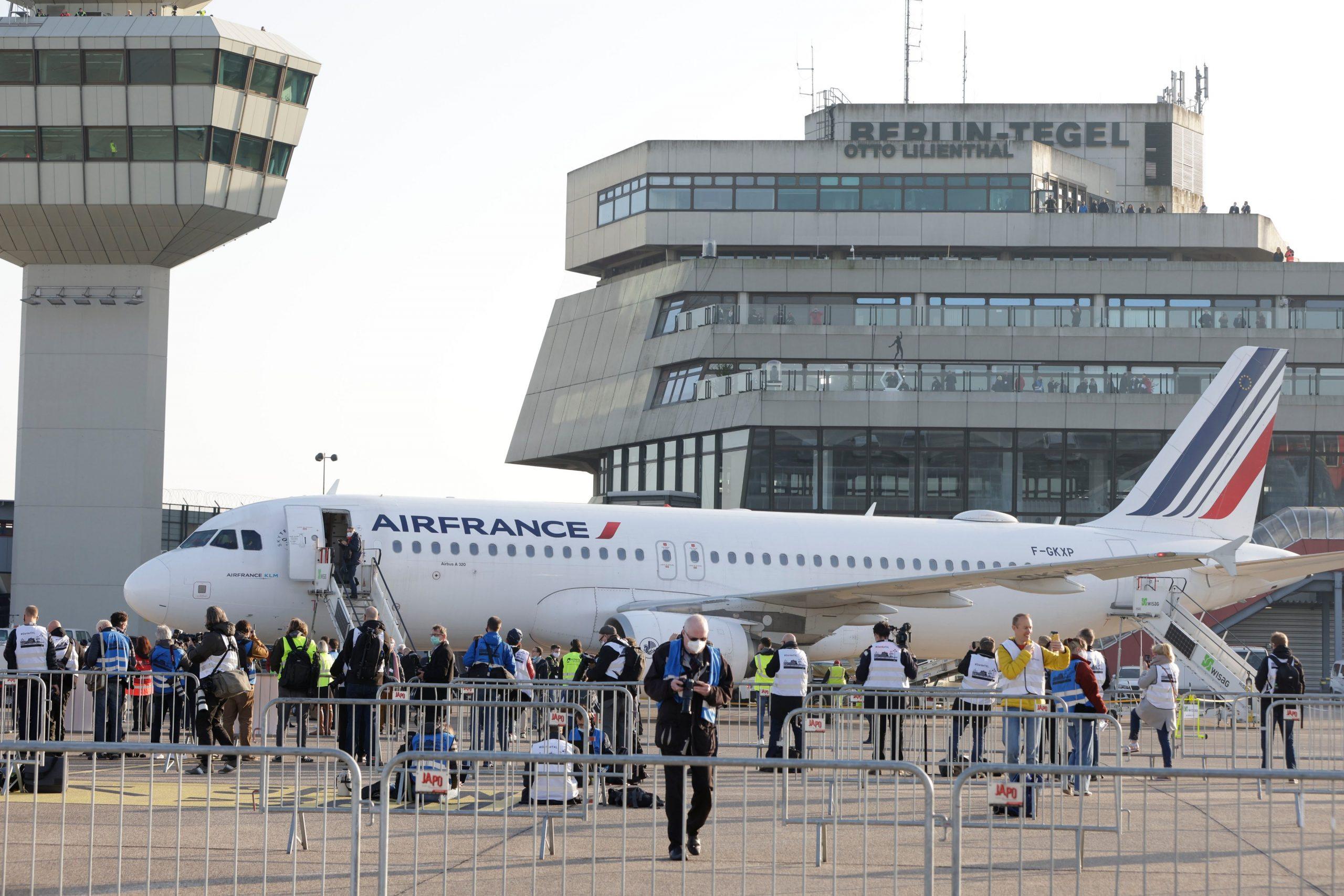 En Airbus A320-200 fra Air France gennemførte den sidste kommercielle flyvning fra Berlin Tegel Airport. (Foto: Berlin Airports)