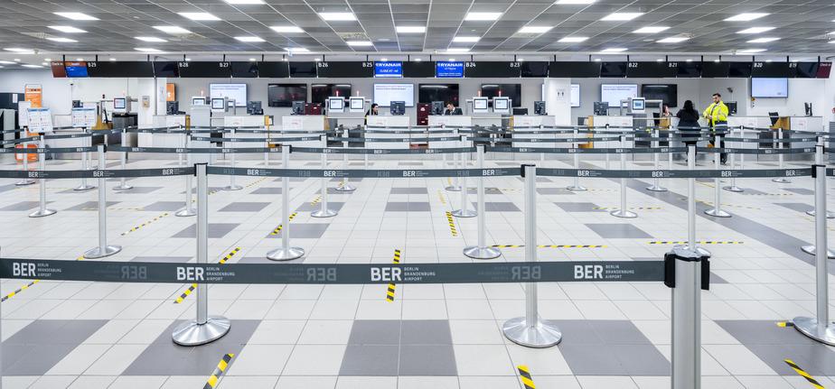 Indcheckningsområdet i Terminal 5 i Berlin Brandenburg Airport. (Fotoi: FBB | PR)