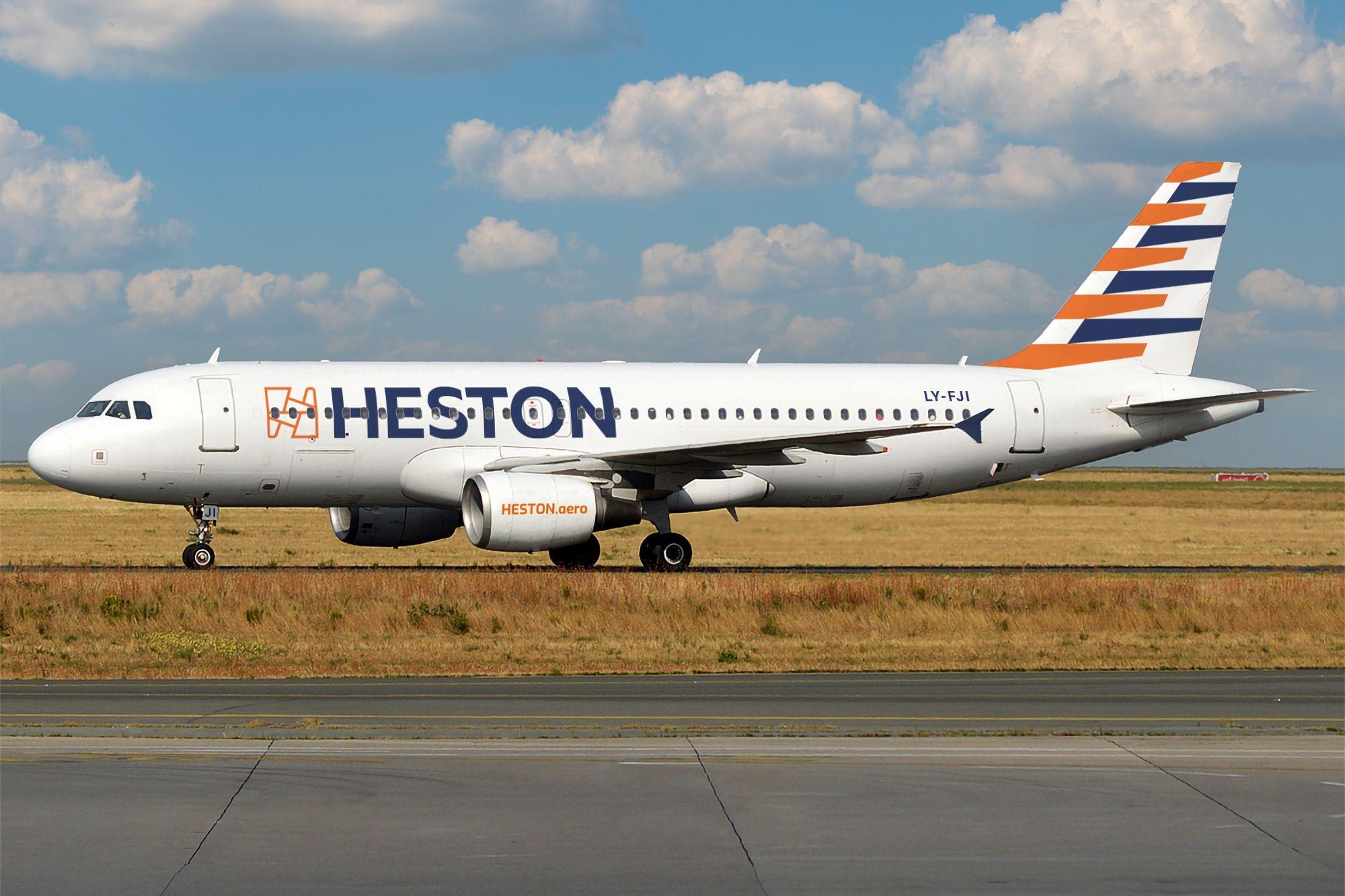 En kommende Airbus A320-200 fra den litauiske ACMI-operatør Heston Airlines. Foto: Heston Aviation
