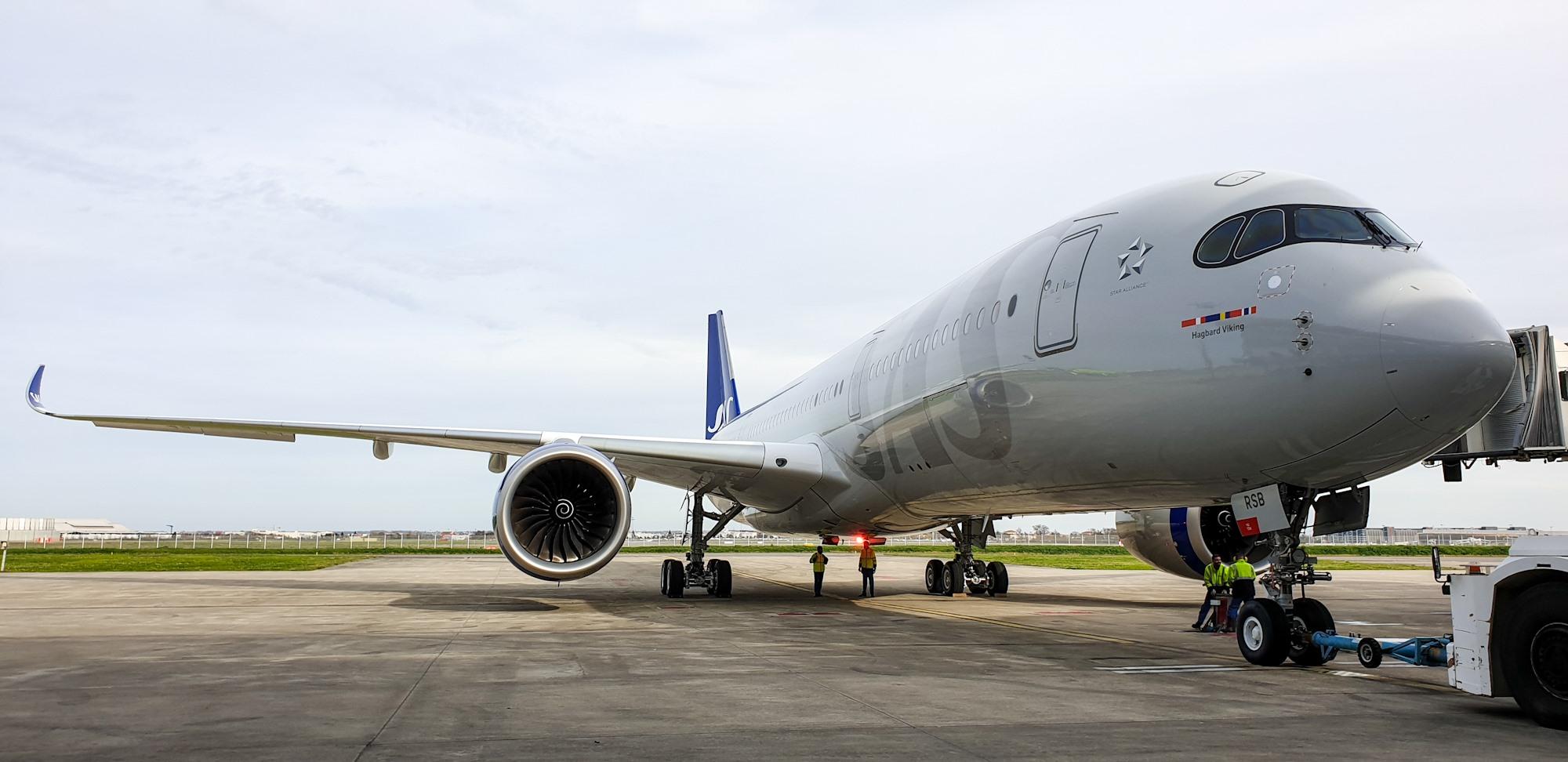 SAS Airbus A350-900 XWB i Toulouse. (Foto: SAS)