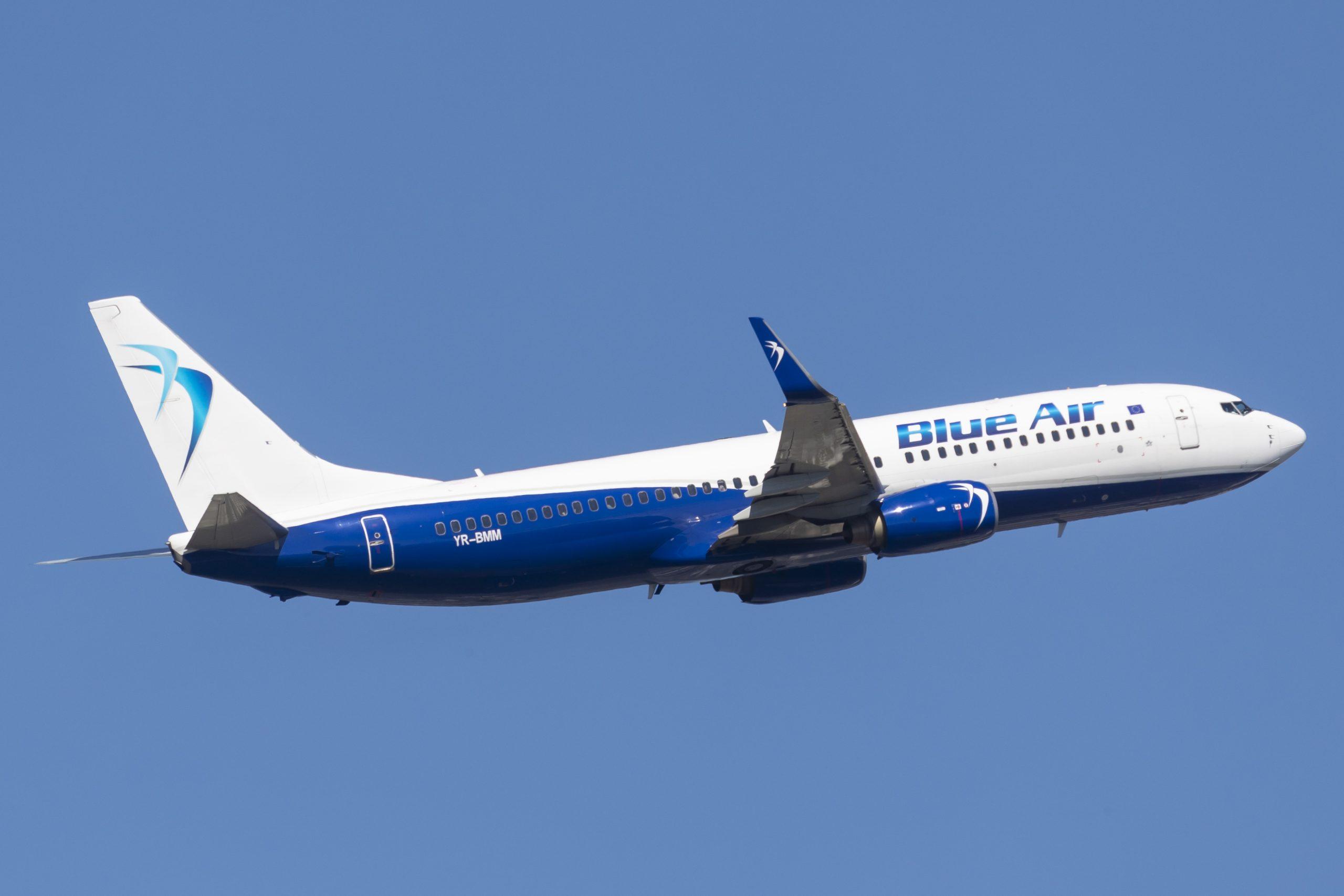 En Boeing 737-800 fra det rumænske lavprisflyselskab Blue Air. Foto: © Thorbjørn Brunander Sund, Danish Aviation Photo