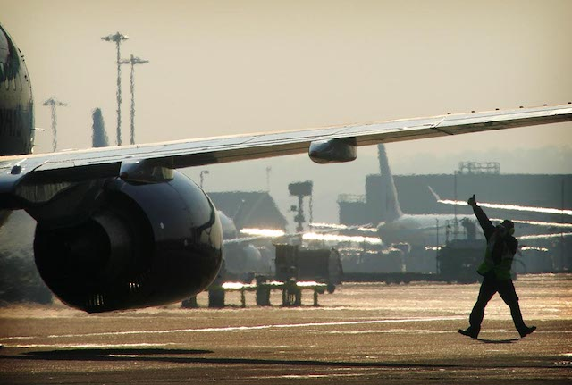 Flytrafik i London Gatwick. Foto: PR