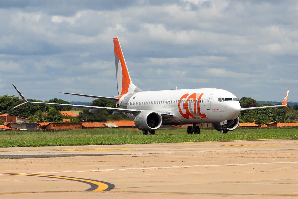 Boeing 737 MAX 8 med registrering PR-XMA fra det brasilianske flyselskab GOL. Foto: Alexandro Dias, CC 4.0
