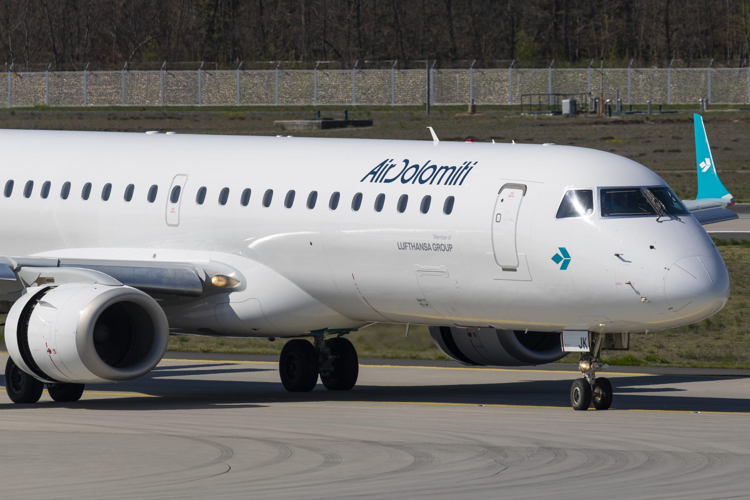 Embraer ERJ-195 fra Air Dolomiti. (Foto: © Thorbjørn Brunander Sund | Danish Aviation Photo)